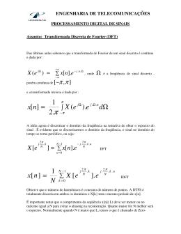Aula 25/10/06 - TRANSFORMADA DISCRETA DE FOURIER (DFT)
