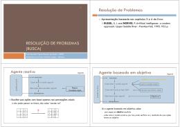 RESOLUÇÃO DE PROBLEMAS (BUSCA) Resolução de
