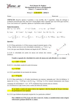 Prova 3.Gabarito - Prof. Renato M. Pugliese