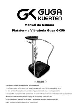 Manual do Usuário Plataforma Vibratoria Guga