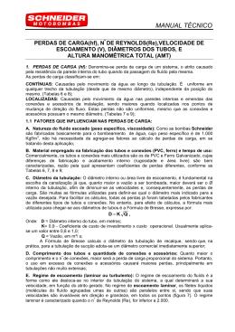 MANUAL TÉCNICO - IRRICOM - Equipamentos para Irrigação Ltda