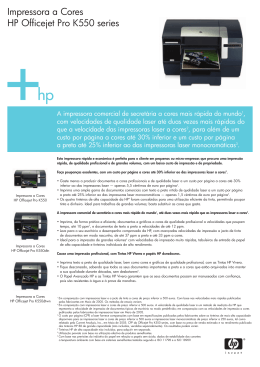 Impressora a Cores HP Officejet Pro K550 series