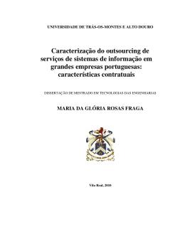 Caracterização do outsourcing de serviços de sistemas de