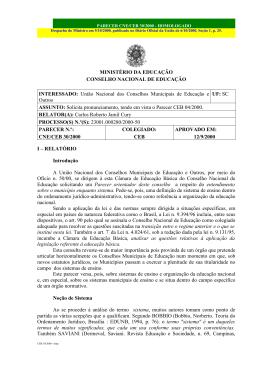 Parecer CNE/CEB nº 30/00