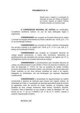 Provimento nº 33 - Tribunal de Justiça do Estado do Amazonas