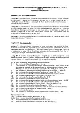 MINUTA DE REGIMENTO INTERNO DO CONSELHO