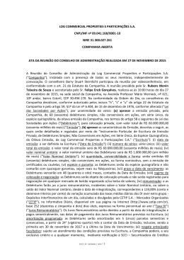 LOG COMMERCIAL PROPERTIES E PARTICIPAÇÕES S.A. CNPJ