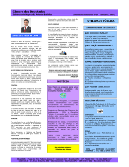 Clique aqui e veja o informativo - Deputado Federal Antonio Bulhões