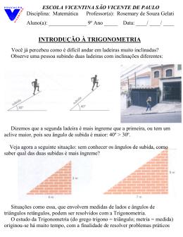 Trigonometria- texto e desafios- 9º Ano- 2012