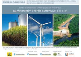 BB Votorantim Energia Sustentável I, II e III*