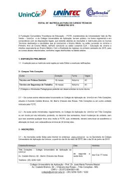 Edital - UninCor