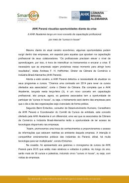 AHK Paraná visualiza oportunidades diante da crise