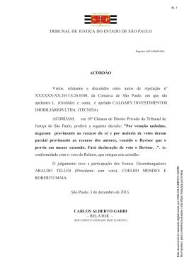 TRIBUNAL DE JUSTIÇA DO ESTADO DE SÃO