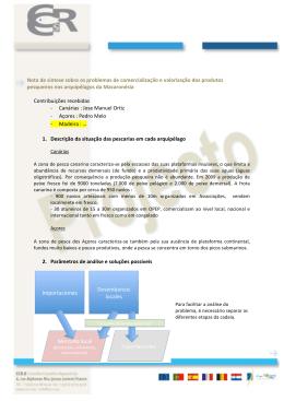 ! Nota de síntese sobre os problemas de comercialização e - CCR-S