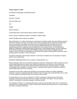 XIII Encontro ABPMC - Programação 13/08/2004