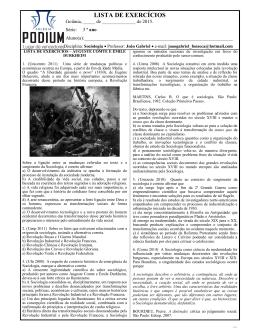 lista de exercícios – auguste comte e émile durkheim