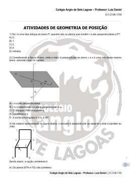 Colégio Anglo de Sete Lagoas – Professor: Luiz Daniel