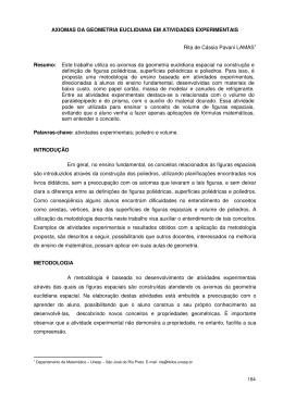 AXIOMAS DA GEOMETRIA EUCLIDIANA EM ATIVIDADES