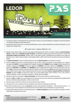 PAS 3 2013-2015 - Caderno de prova