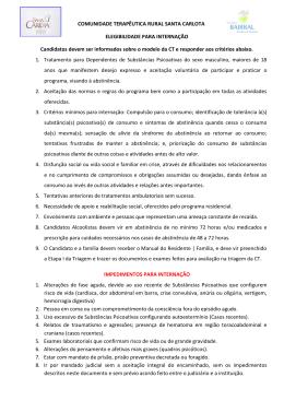 COMUNIDADE TERAPÊUTICA RURAL SANTA CARLOTA