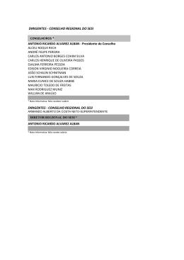 DIRIGENTES - CONSELHO REGIONAL DO SESI
