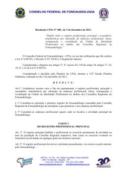 - Conselho Federal de Fonoaudiologia