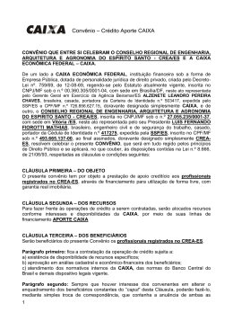 Crédito Aporte Caixa - CREA-ES