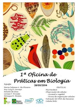Sequência didática- I Oficina de Biologia