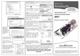 Manual de Instalação do Gravador USB ASP