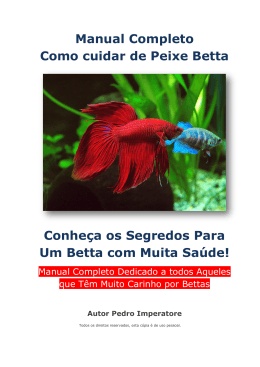 Manual Completo Como cuidar de Peixe Betta