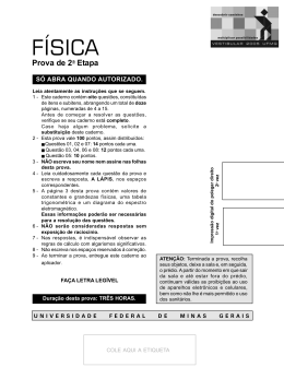 Física - UFMG 2005