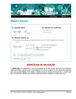 Mistura Gasosa - Portal de Estudos em Química