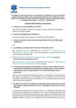 1 Procedimento concursal comum para recrutamento de