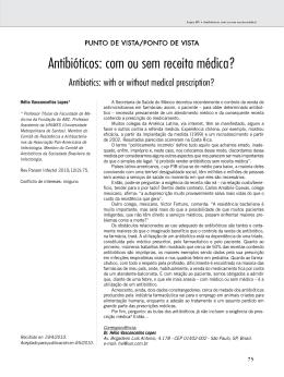Antibióticos: com ou sem receita médica?