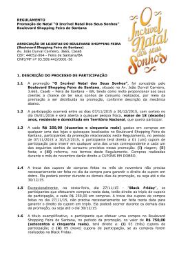 Regulamento Promoção Natal Boulevard Feira 2015