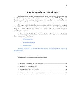 Manual para conexão da rede wireless UFBA