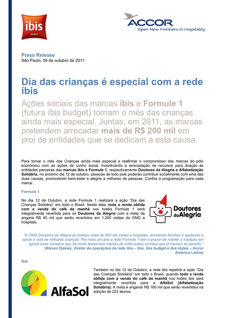 fe13d43253 Dia das crianças é especial com a rede ibis