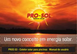 Um novo conceito em energia solar. - PRO-SOL