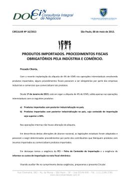produtos importados. procedimentos fiscais obrigatórios