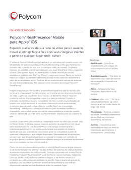 Polycom® RealPresence Mobile para Apple iOS