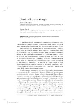 Barrichello versus Google