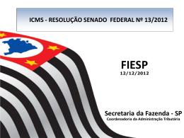 Algumas questões federativas Osvaldo Santos de