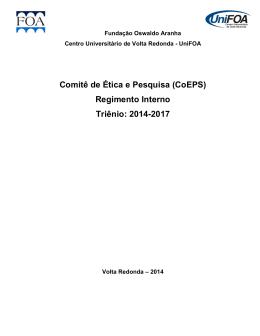 Comitê de Ética e Pesquisa (CoEPS) Regimento Interno