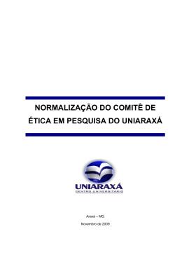 NORMALIZAÇÃO DO COMITÊ DE ÉTICA EM PESQUISA