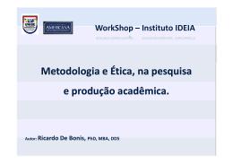Palestrante - Instituto IDEIA