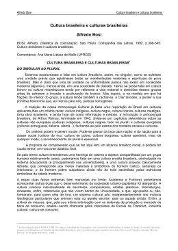Cultura brasileira e culturas brasileiras Alfredo Bosi