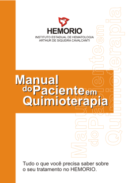 Manual do Paciente em Quimioterapia - Hemorio
