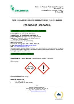 fispq – peróxido de hidrogênio - grupo brasinter