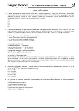 questões suplementares – química - livro 02