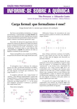 Carga formal: que formalismo é esse?